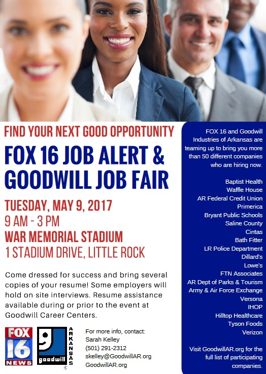 Fox 16 & Goodwill Job Fair FLIER | Pulaski County Adult